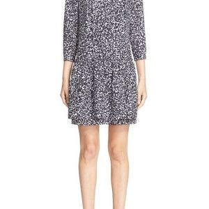 Burberry Brit Ellia Printed Silk Drop Waist Dress